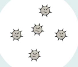 悪玉菌(黄色ブドウ球菌など)